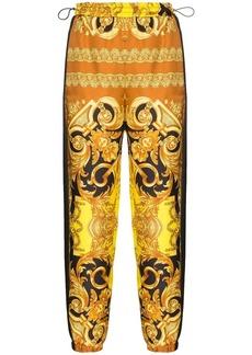 Versace Baroque-print silk track trousers