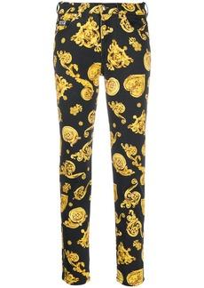 Versace baroque-print slim-fit jeans
