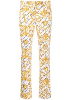 Versace baroque print slim-fit trousers
