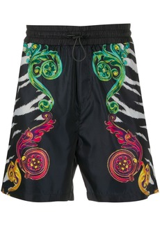 Versace baroque-print swim shorts