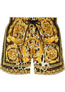 Versace Wild Baroque print swim shorts