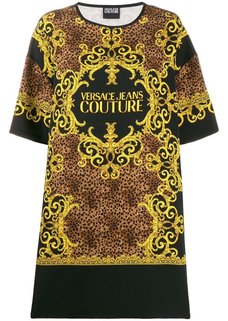 Versace baroque-print T-shirt dress