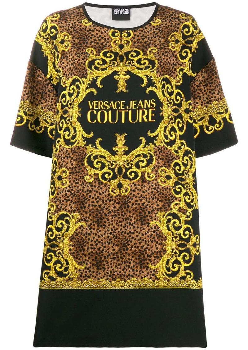 Versace baroque-print T-shirt dress