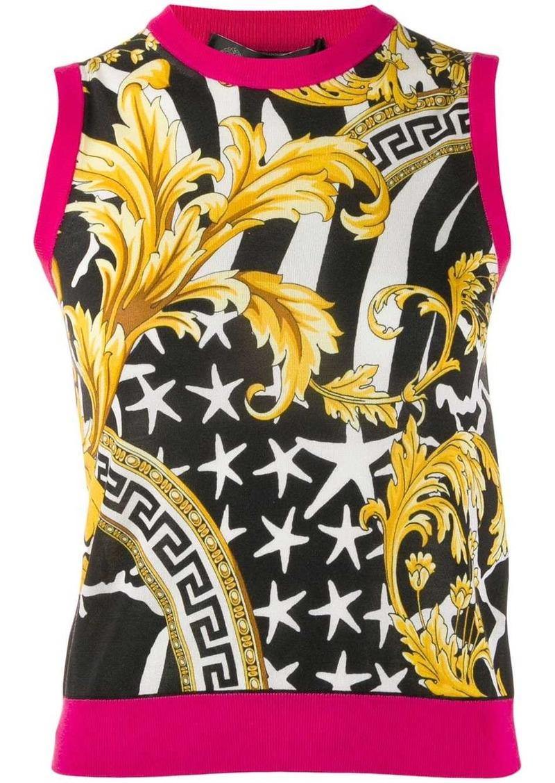 Versace Baroque print vest