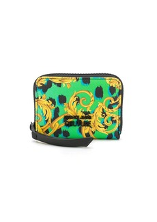 Versace baroque-print zip around wallet