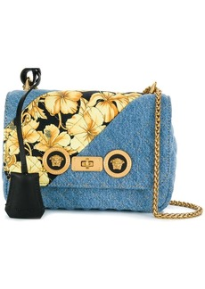 Versace baroque printed denim bag