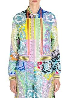 Versace Baroque Silk Bomber Jacket