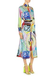 Versace Baroque Silk Shirt Dress