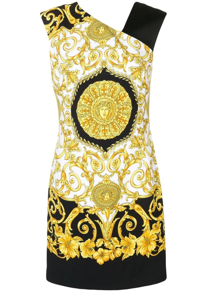 Versace Baroque sleeveless printed mini dress