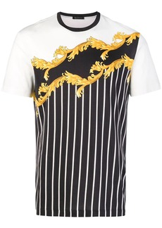 Versace baroque stripe T-shirt
