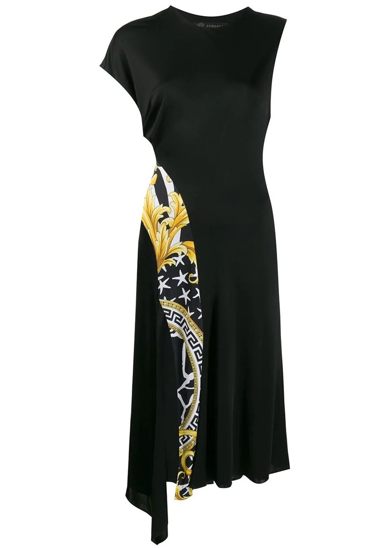 Versace Baroque zebra panel dress