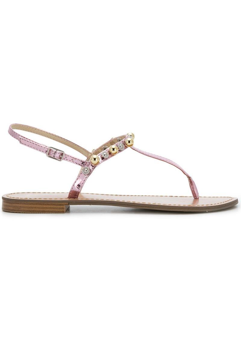 5c3c74a1eaeda Versace beaded thong sandals