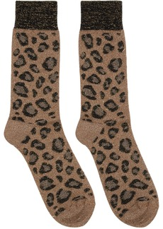 Versace Beige Animalier Socks
