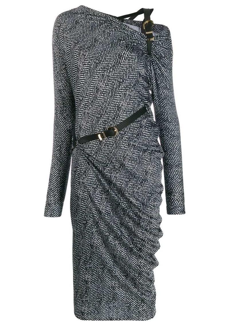 Versace belted detail midi dress