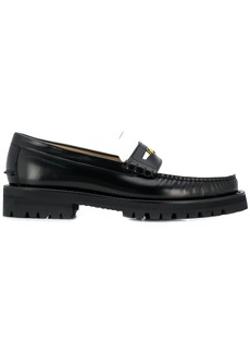 Versace bi-colour Medusa loafers