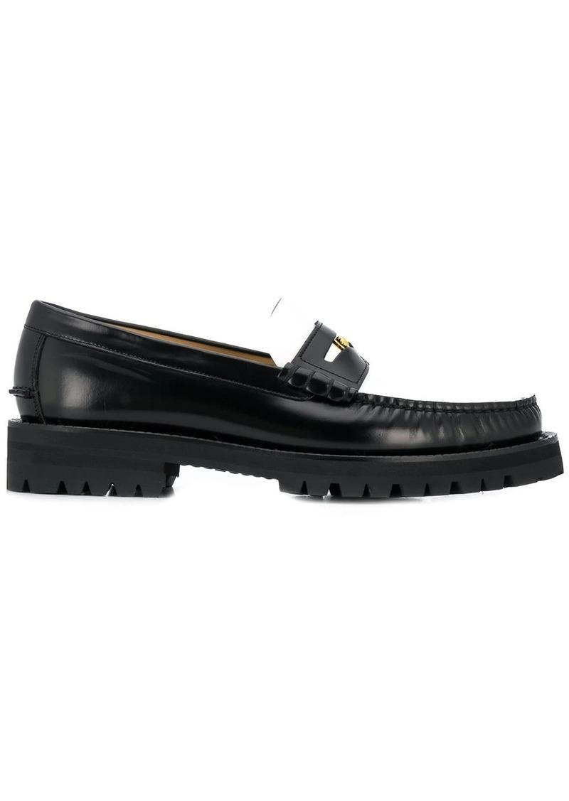 Versace bi-colour Medusa loafers