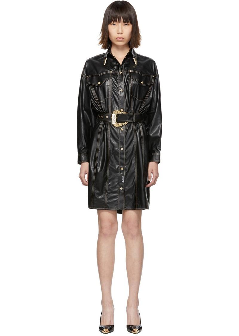 Versace Black & Gold Spread Shirt Dress