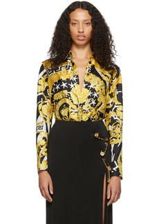 Versace Black & Gold Trésor De La Mer Shirt