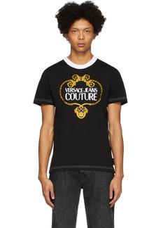 Versace Black Barocco Chain T-Shirt