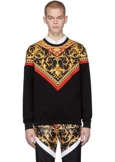 Versace Black Barocco Print Sweatshirt