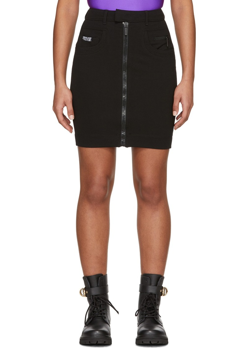 Versace Black Bodycon Skirt