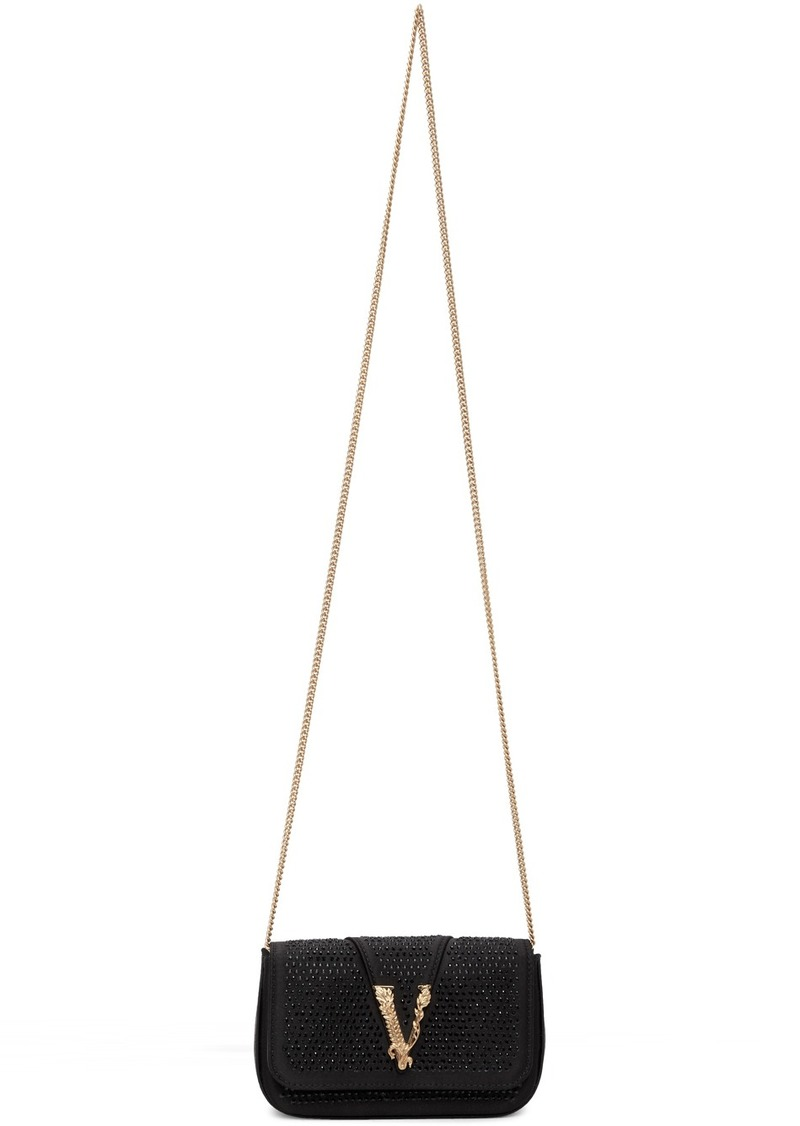 Versace Black Crystal Virtus Evening Bag