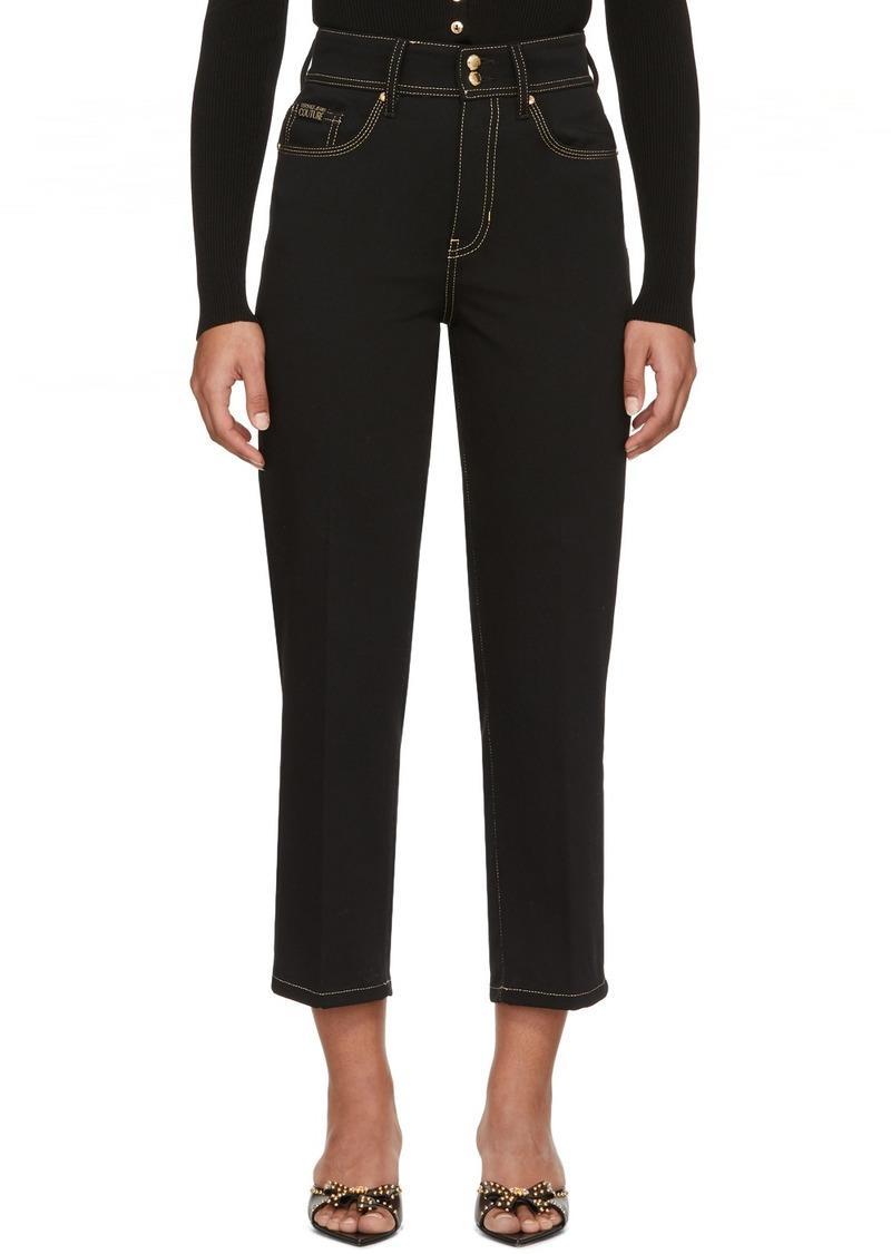 Versace Black Denim Straight-Leg Jeans