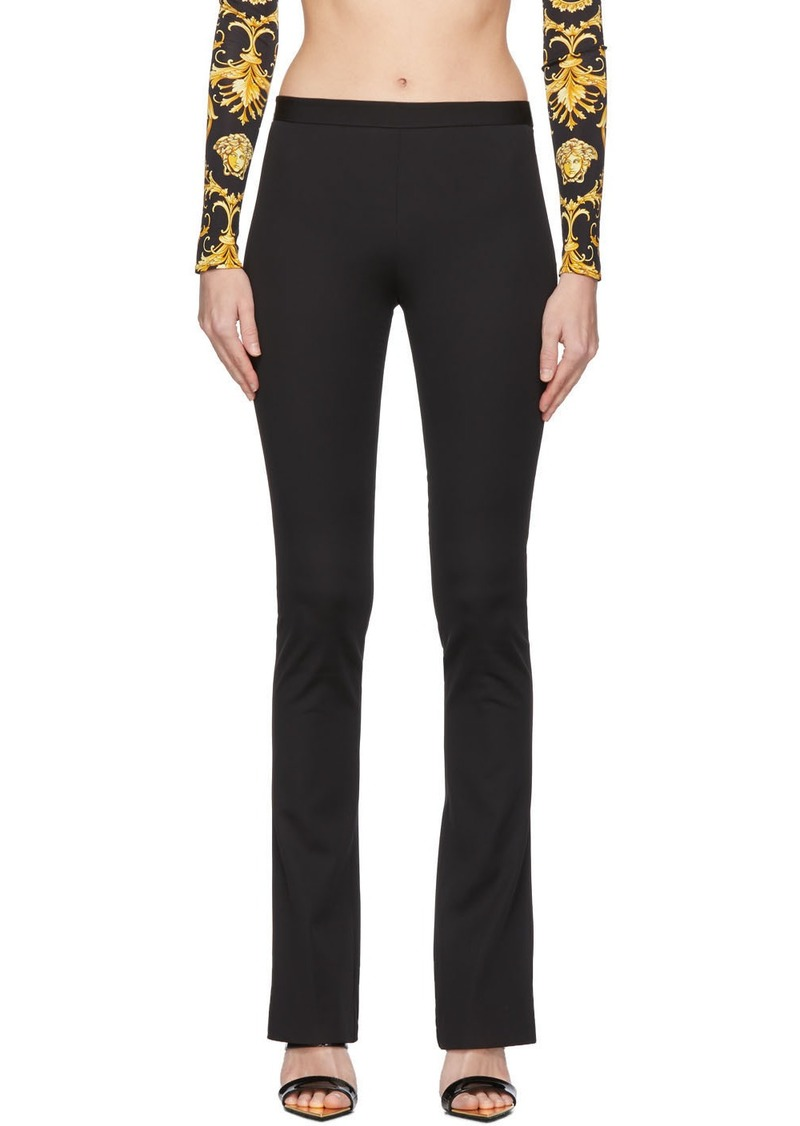 Versace Black Flared Trousers