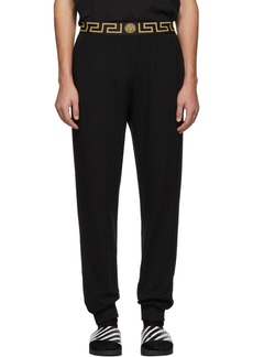 Versace Black Greca Border Lounge Pants