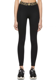 Versace Black Greek Key Leggings
