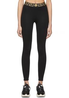 Versace Black Greek Key Leggings