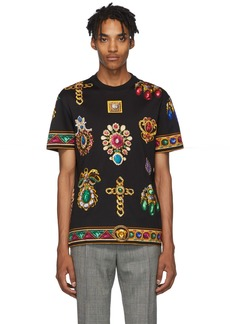 Versace Black Jewel T-Shirt