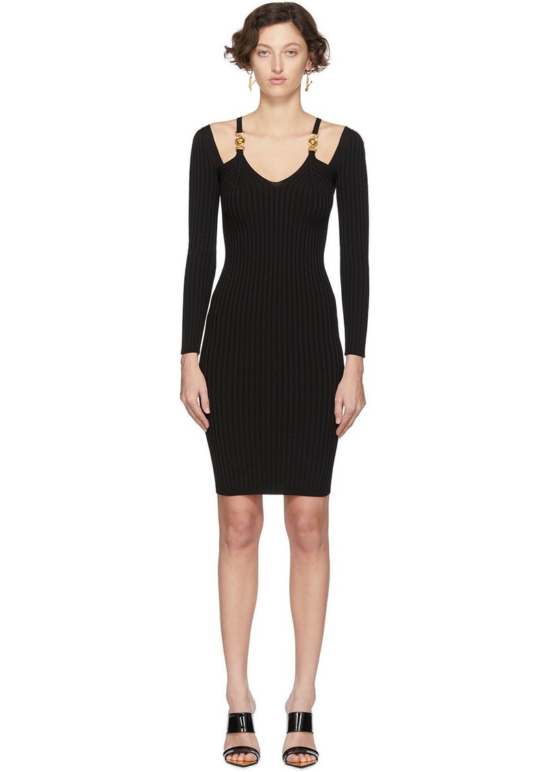 Versace Black Knit Medusa Dress