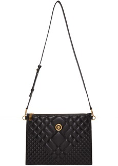 Versace Black Large Icon Quilted Pouch