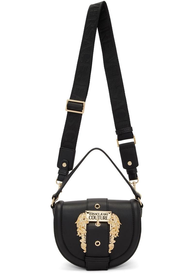 Versace Black Leather Shoulder Bag