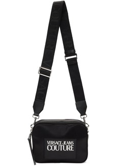 Versace Black Logo Camera Bag