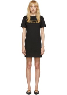 Versace Black Logo Dress