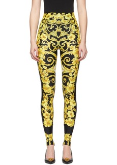 Versace Black Medusa Barroco Leggings