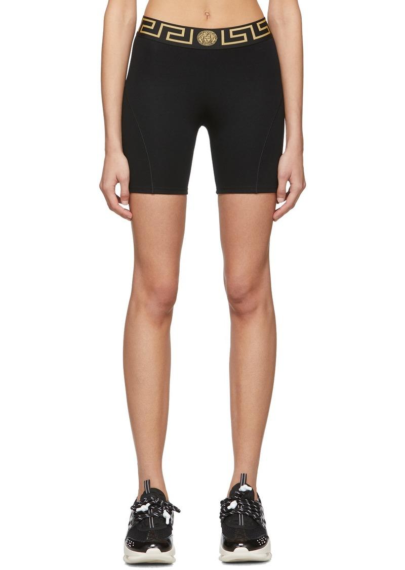 Versace Black Medusa Bike Shorts