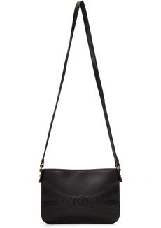 Versace Black Medusa Embossed V Bag