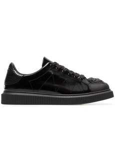 Versace black Medusa patent leather sneakers