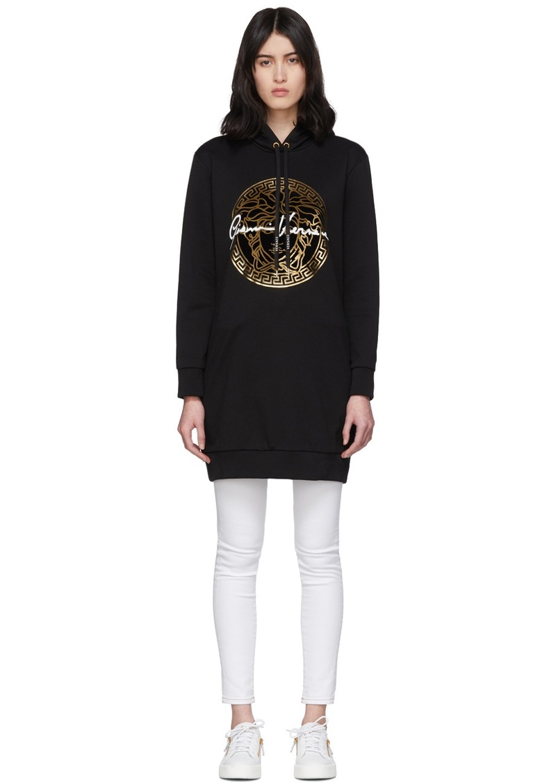 Versace Black Medusa Signature Hoodie Dress