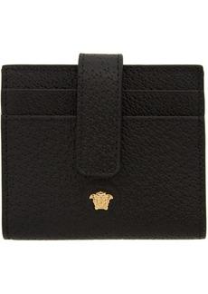 Versace Black Multi Slot Card Holder