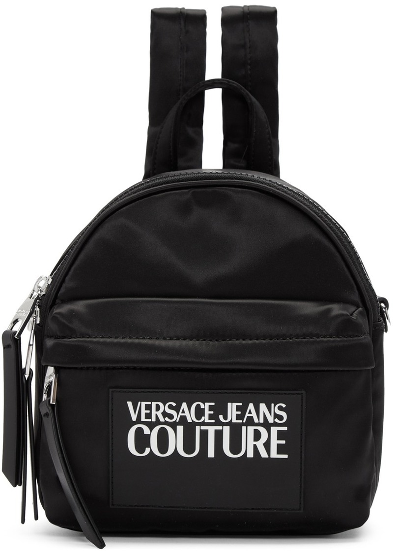 Versace Black Nylon Logo Backpack