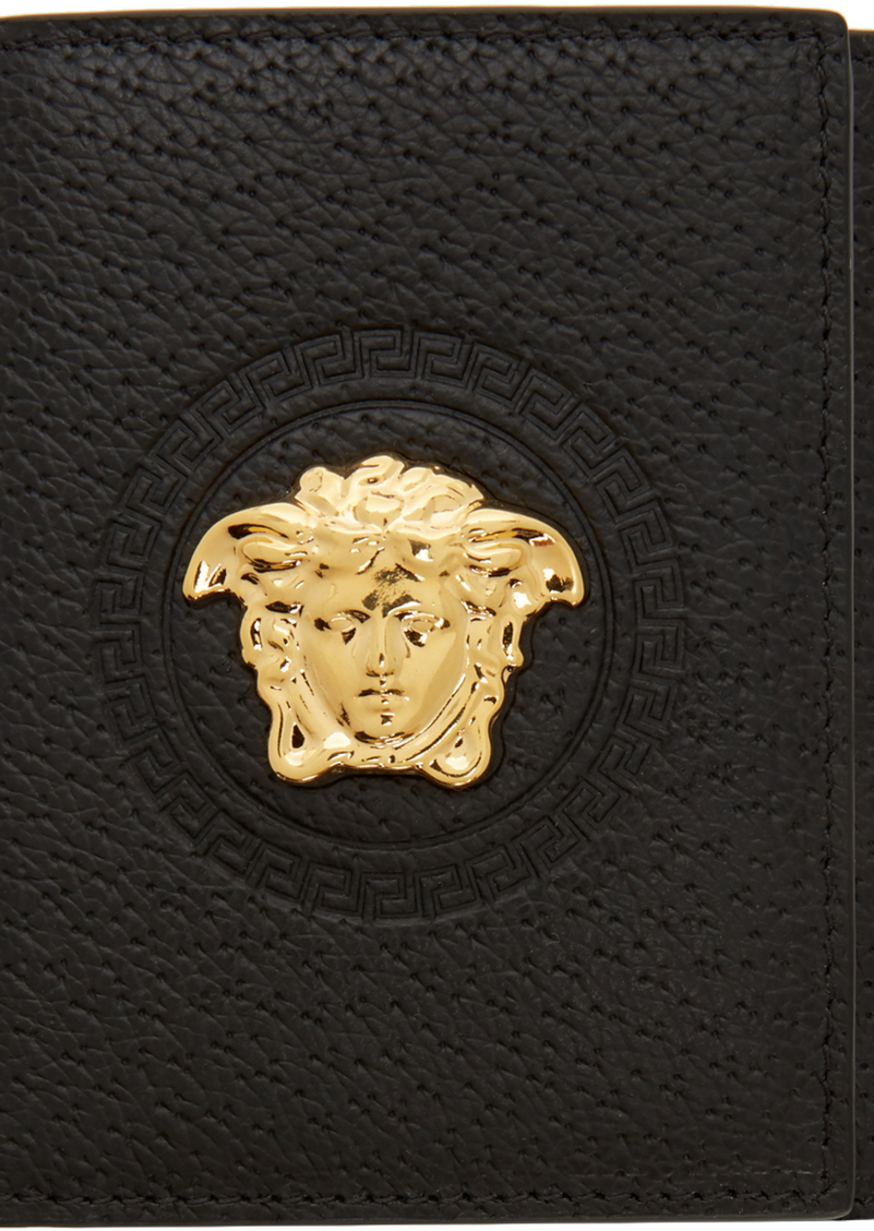 Versace Black Palazzo Trifold Wallet