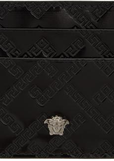 Versace Black Patent Medusa Card Holder