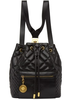 Versace Black Quilted Medusa Backpack