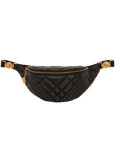 Versace Black Quilted Medusa Belt Bag