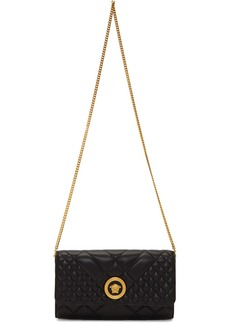 Versace Black Quilted Medusa Tribute Chain Bag