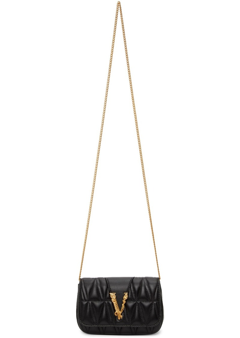 Versace Black Quilted Virtus Evening Bag